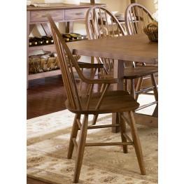 Farmhouse Windsor Back Arm Chair Set of 2