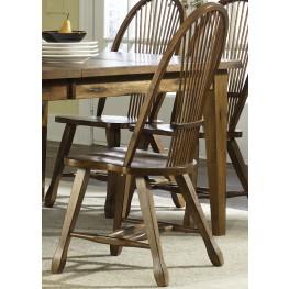 Treasures Oak Sheaf Back Side Chair Set of 2