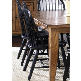 Treasures Black Bow Back Side Chair Set of 2