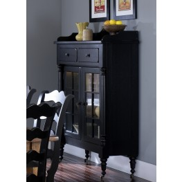 Treasures Black Display Cabinet