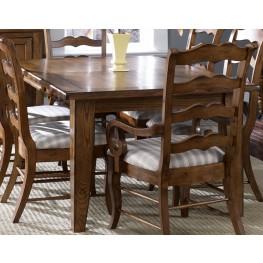Treasures Oak Extendable Rectangular Leg Table - Liberty Furniture