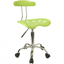 Vibrant Apple Green and Chrome Computer Tractor Seat Task Chair