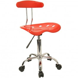 Vibrant Red and Chrome Computer Tractor Seat Task Chair