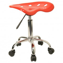 Vibrant Red Tractor Seat Stool
