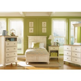 Ocean Isle Bisque Youth Panel Bedroom Set