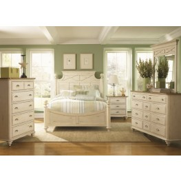 Ocean Isle Bisque Poster Bedroom Set