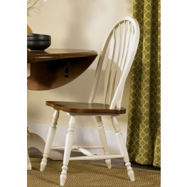 Low Country Sand Windsor Back Side Chair Set of 2