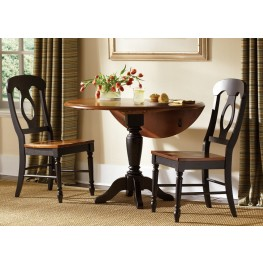 Low Country Black Drop Leaf Extendable Dining Set