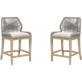 Loom Platinum Counter Stool Set of 2