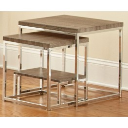 Lucia Gray and Brown 2 Piece Nesting Table