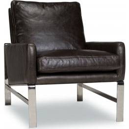 Lucas Shalimar Grigio Leather Chair