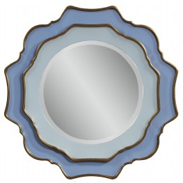 Caprice Blue With Gold Leaf Wall Mirror
