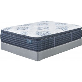 Mt. Dana Euro Top White Queen Mattress With Foundation