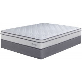 Longs Peak Ltd White Cal. King Mattress With Foundation