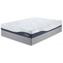 9 Inch Gel Memory Foam White Cal. King Mattress With Foundation