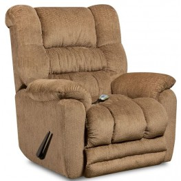 Massaging Temptation Fawn Microfiber Rocker Recliner