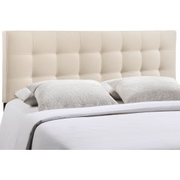 Lily Ivory King Fabric Headboard