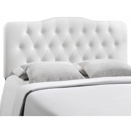 Annabel White Full Vinyl Headboard