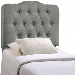 Annabel Gray Twin Fabric Headboard