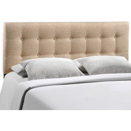 Emily Beige Full Fabric Headboard