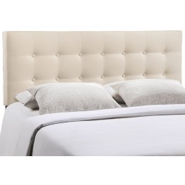 Emily Ivory Full Fabric Headboard
