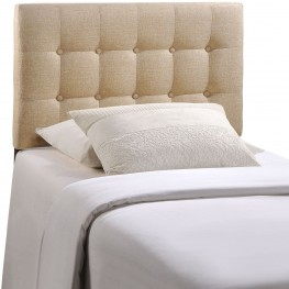 Emily Beige Twin Fabric Headboard