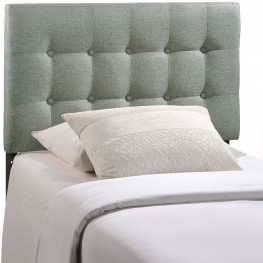 Emily Gray Twin Fabric Headboard