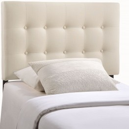 Emily Ivory Twin Fabric Headboard