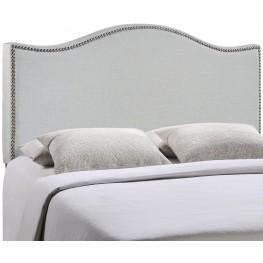 Curl Gray King Nailhead Upholstered Headboard