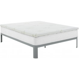 "Relax White Full 2"" Gel Memory Foam Mattress Topper"