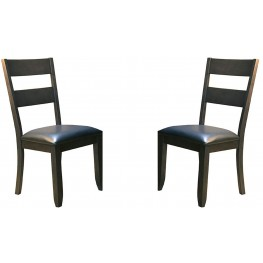 7d2923d0a4dc Mariposa Rustic Whiskey Ladderback Side Chair Set of 2