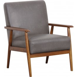 Lummus Steel Wood Frame Upholstered Accent Chair