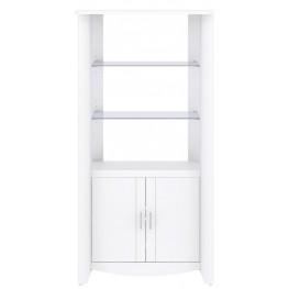 Aero White 2-Door Tall Library Storage