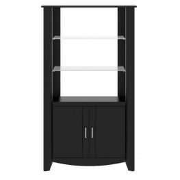 Aero Classic Black 2-Door Tall Library Storage