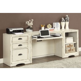 Nantucket Vintage Burnished Artisanal White 3Pc Desk