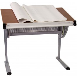 Adjustable Pewter Drawing And Drafting Table (Min Order Qty Required)