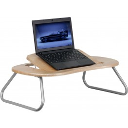 Adjustable Laptop Computer Table With Dark Natural Top (Min Order Qty Required)