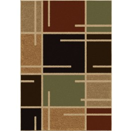 Four Seasons Indoor/Outdoor Blocks Royce Multi Small Area Rug