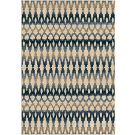 Four Seasons Indoor/Outdoor Southwest Links Ikat Ombre Multi Small Area Rug