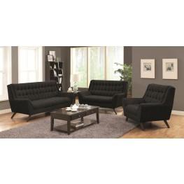 Natalia Black Living Room Set