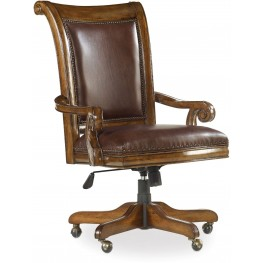 Tynecastle Brown Tilt Swivel Desk Chair