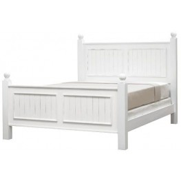 Notting Hill Bright White King Panel Bed