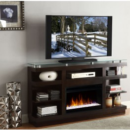 "Novella Dark Chocolate 65"" Fireplace Console"