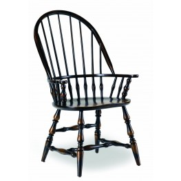 Sanctuary Ebony Windsor Arm Chair Set of 2