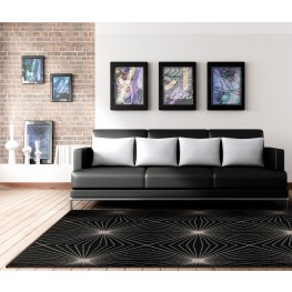 "Nuance Twilight Black Large 130"" Rug"