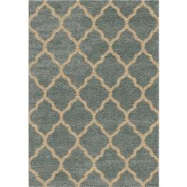Impressions Shag Plush Trellis Malton Blue Small Area Rug