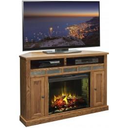 """Oak Creek Golden Oak 56"""" Corner Fireplace"""