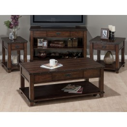 Cassidy Distressed Brown Occasional Table Set