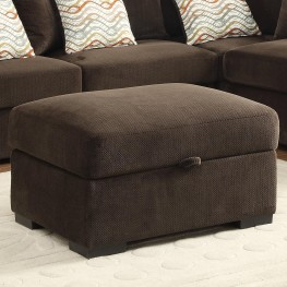 Olson Chocolate Rectangular Storage Ottoman