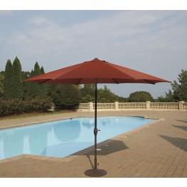 Umbrella Accessories Burnt Orange Large Auto Tilt Umbrella with Dark Brown Umbrella Base